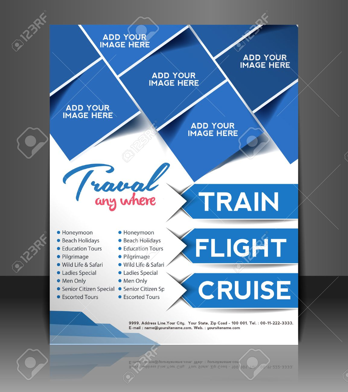 travel flyer magazine cover poster template royalty free cliparts