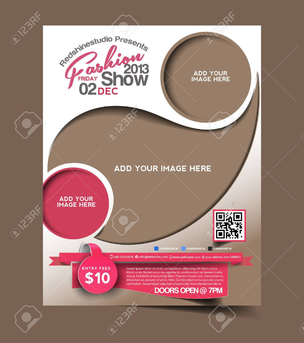 Fashion Flyer & Poster Template Design Stock Vector - 26573273