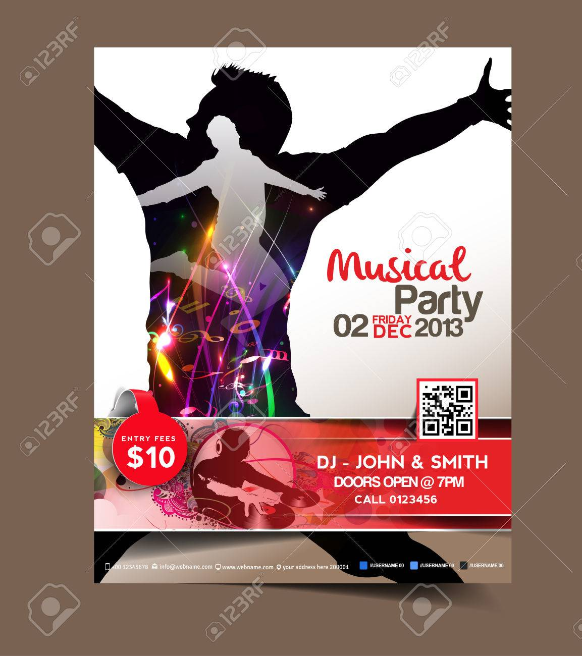 music party flyer poster template design royalty cliparts music party flyer poster template design stock vector 26573236