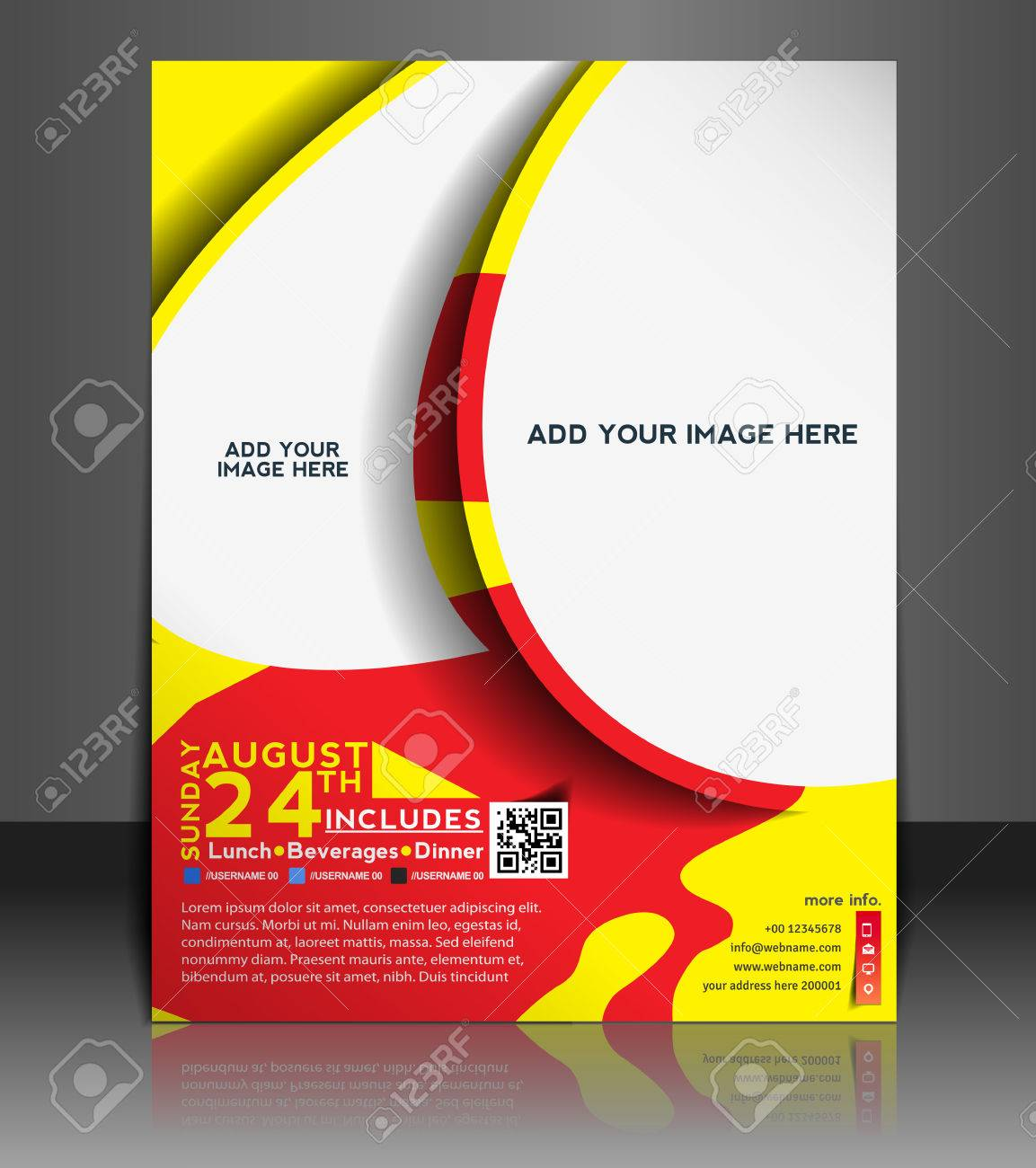 Football Competition Flyer Poster Template Design Royalty Free