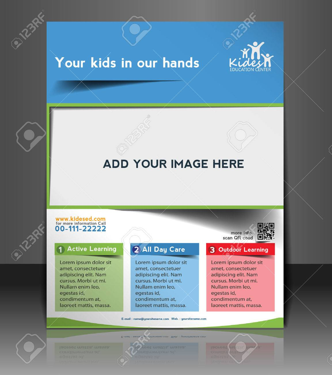 Poster design education - Kid S School Flyer Poster Template Design Stock Vector 26562963
