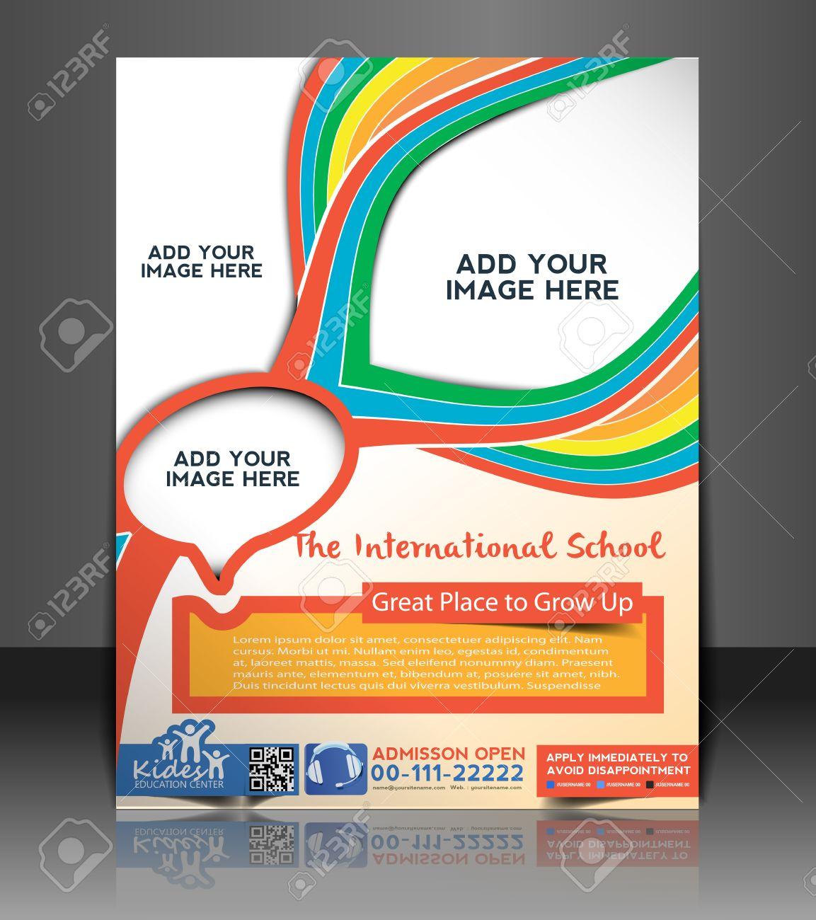 Kid's School  Flyer & Poster Template Design Stock Vector - 26562965