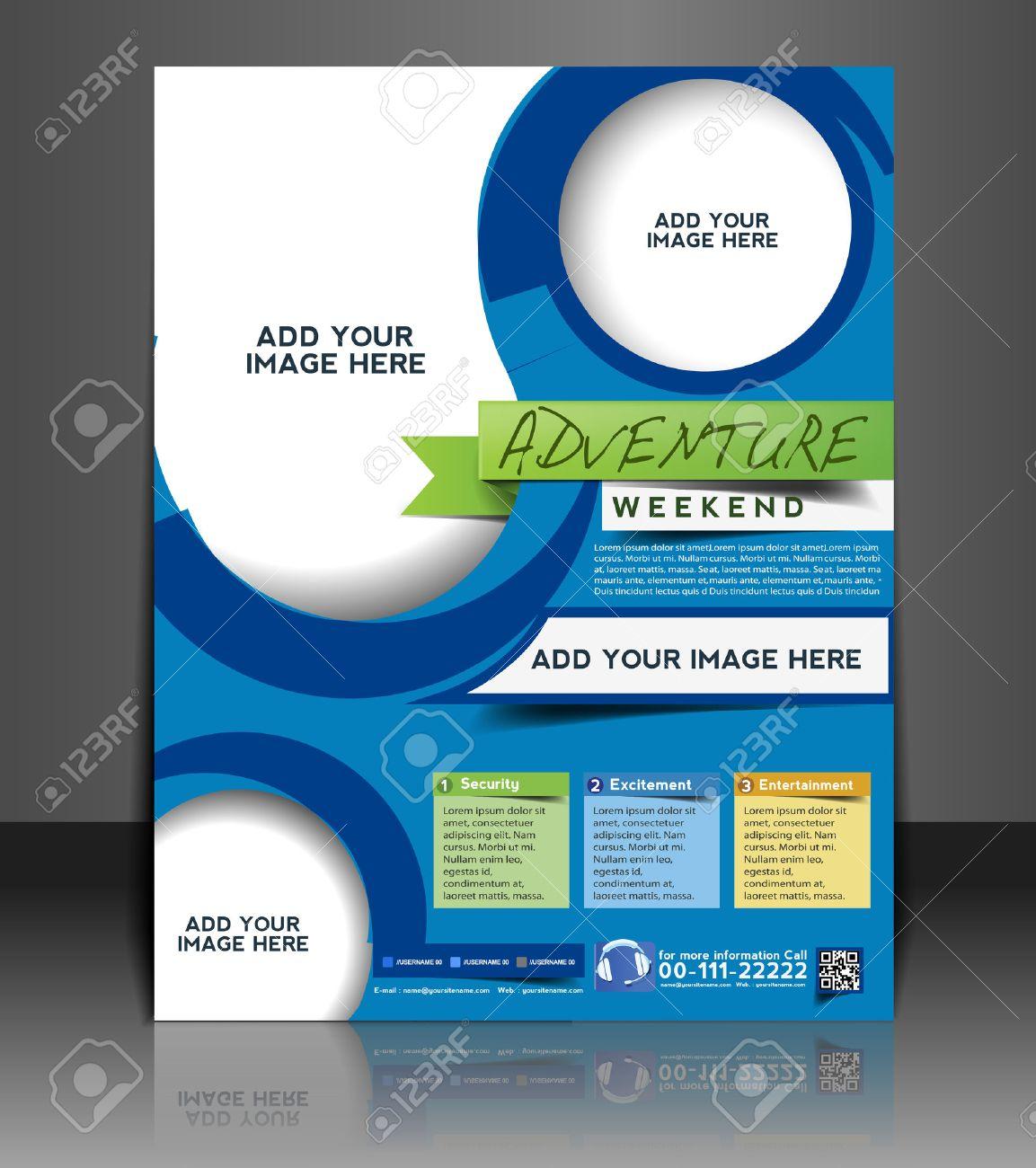 Adventurer Flyer & Poster Template Design Stock Vector - 26562971