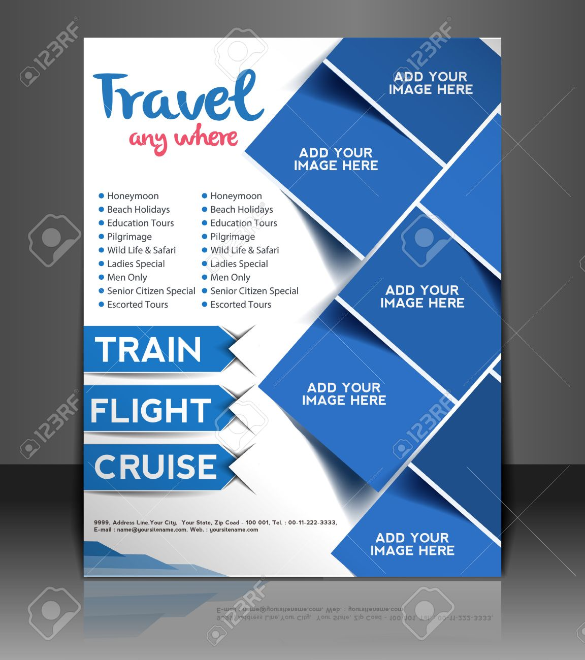 Poster design for free - Travel Center Flyer Poster Template Design Stock Vector 26562978
