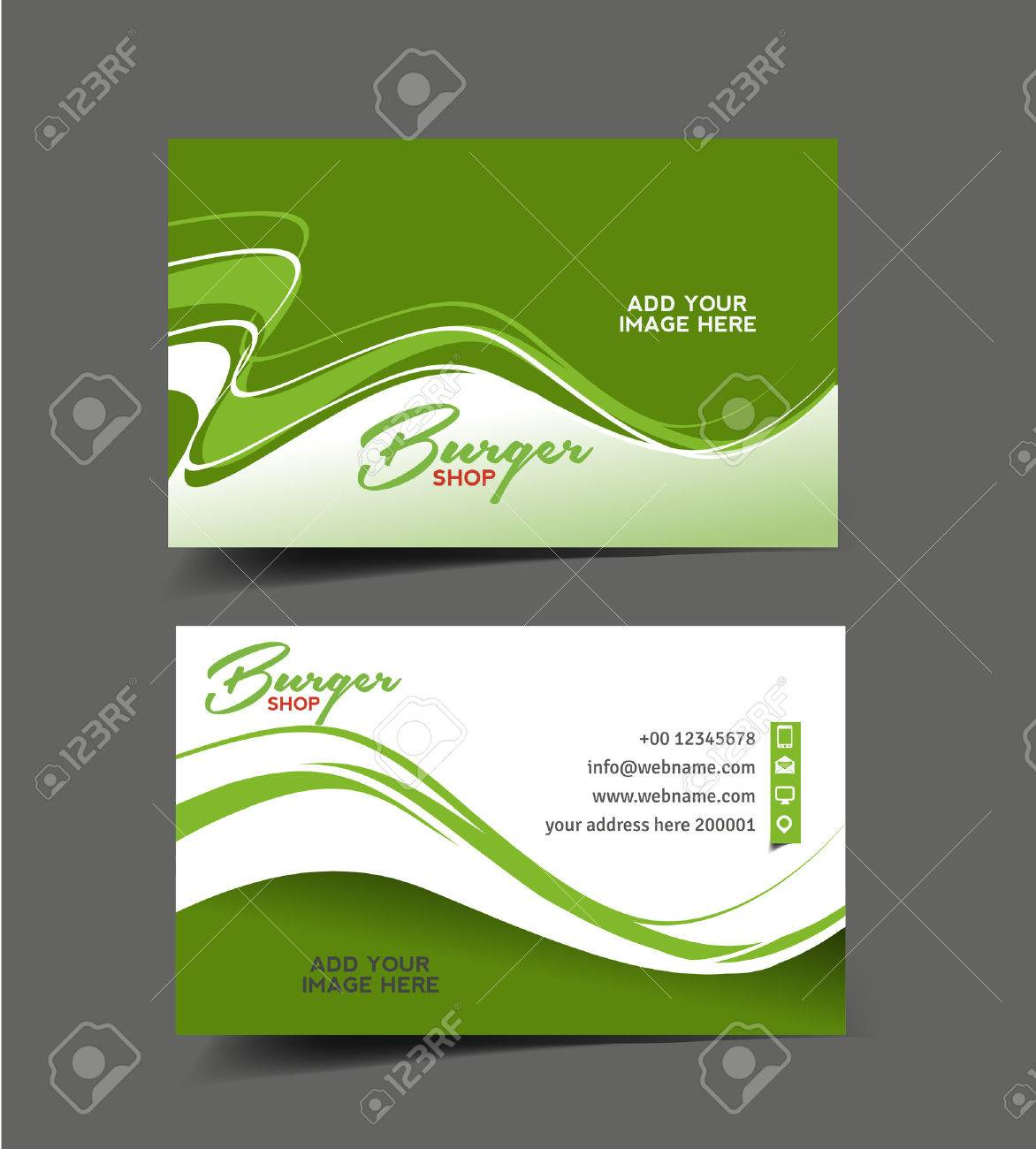 Restaurant Business Card Vector Design Royalty Free Cliparts ...