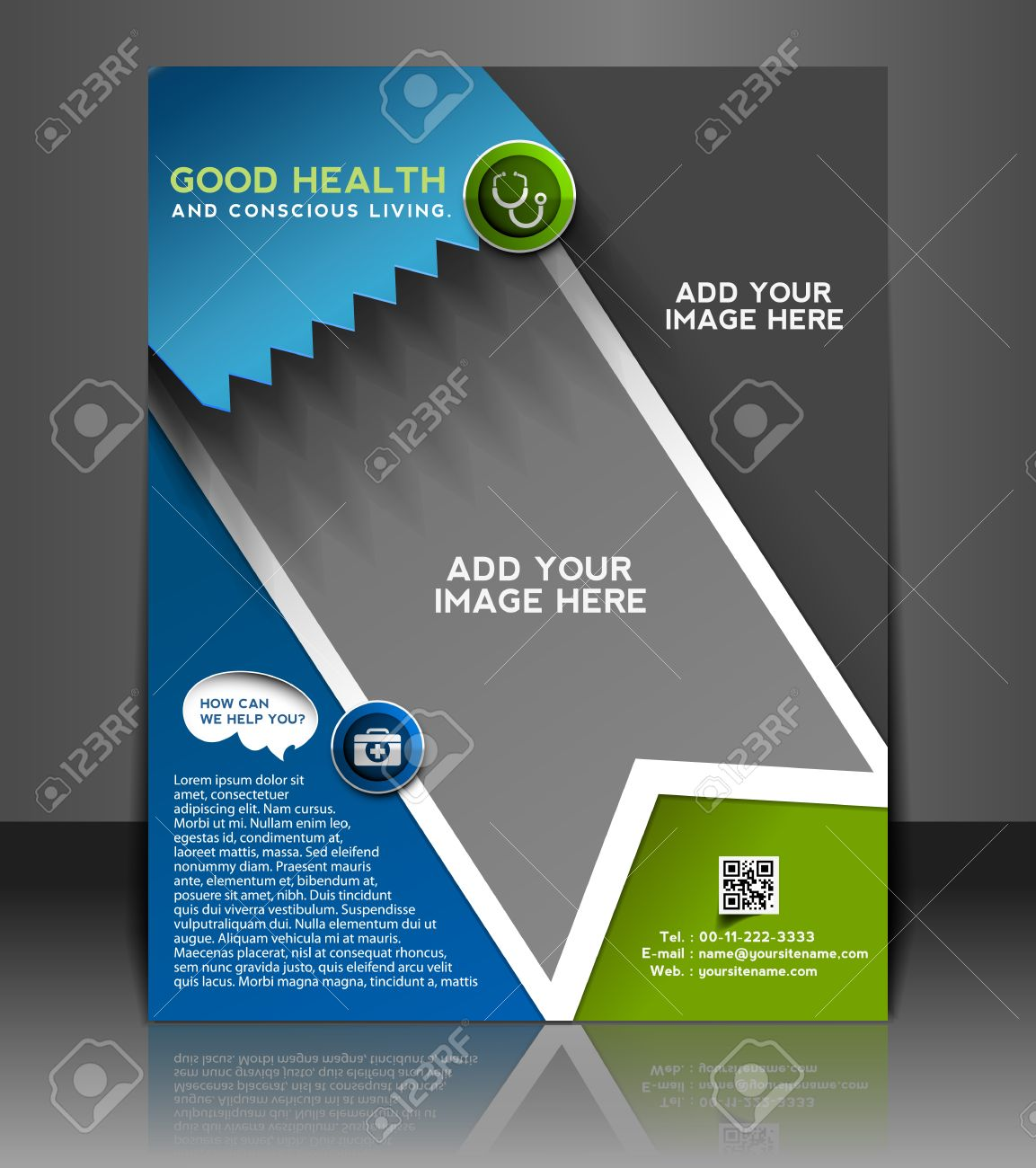 Poster design sample - Hospital Flyer Poster Template Design Royalty Free Cliparts