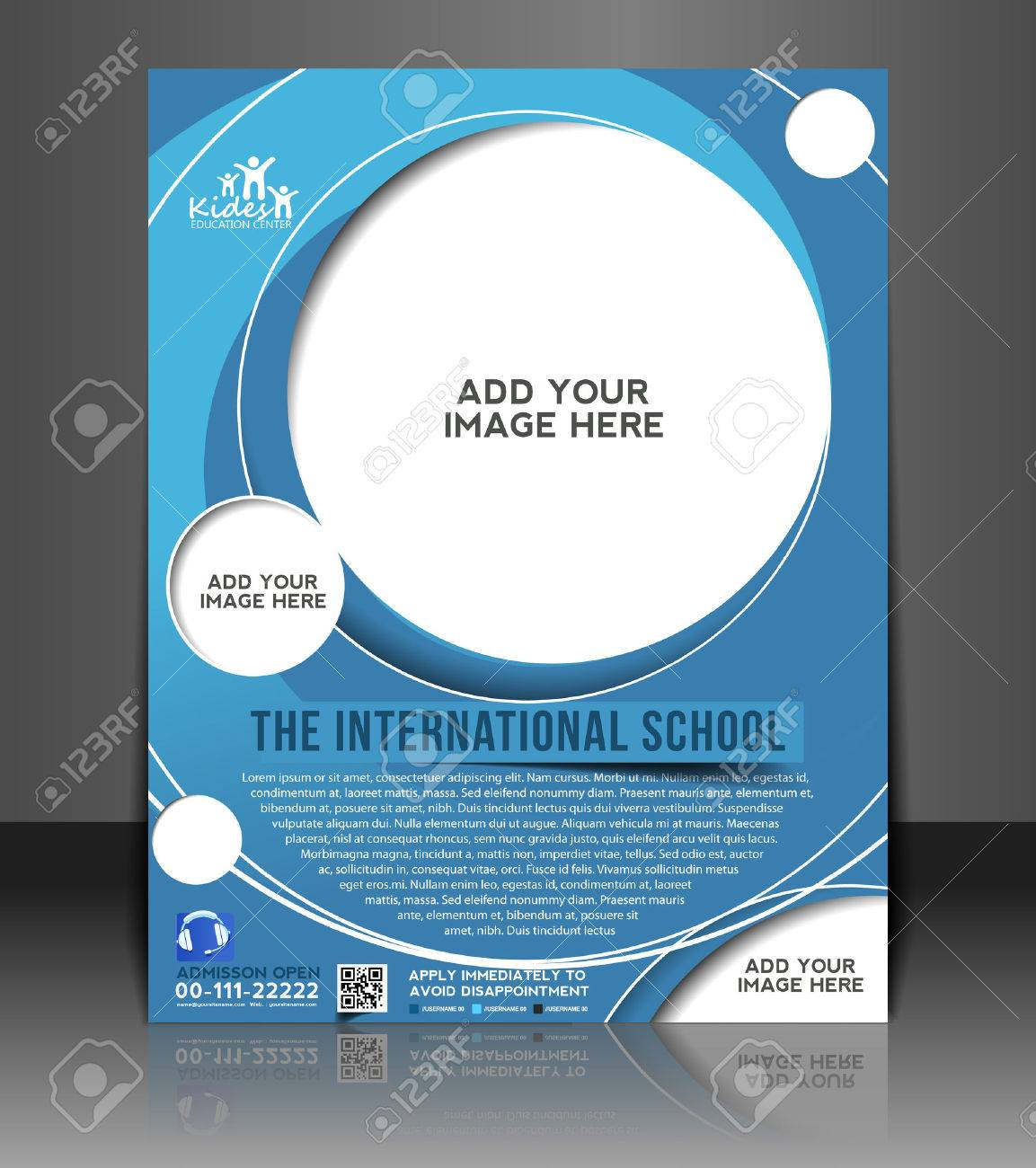 Poster design free template - Poster Design Education Education Ceneter Flyer Poster Template Design Royalty Free