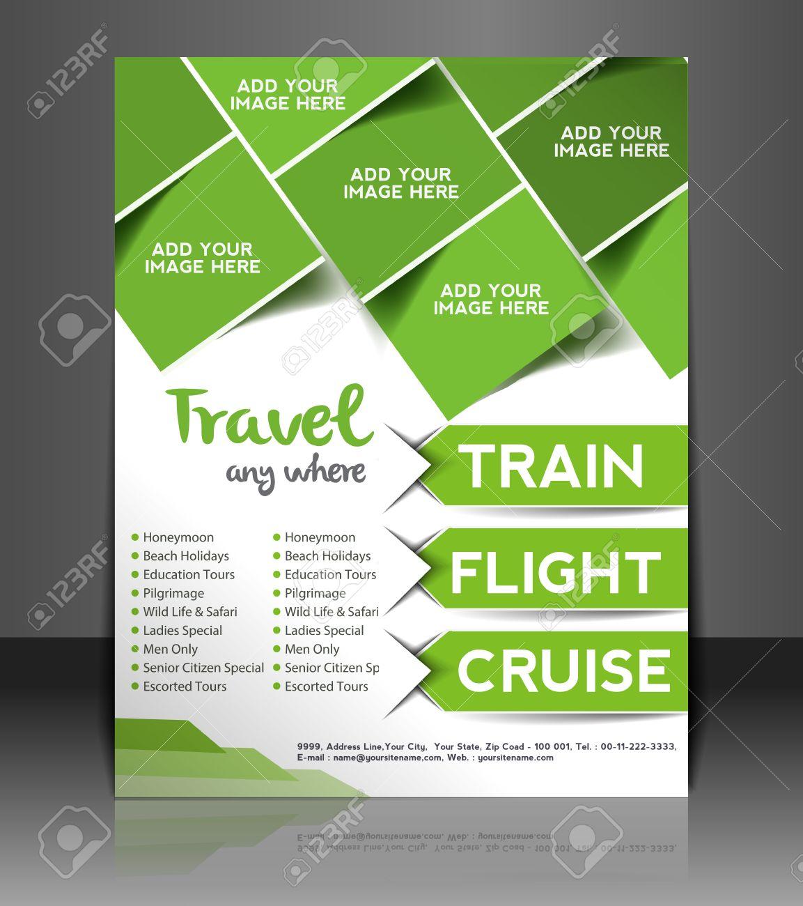 Poster design sample - Travel Center Flyer Poster Template Design Stock Vector 26704098