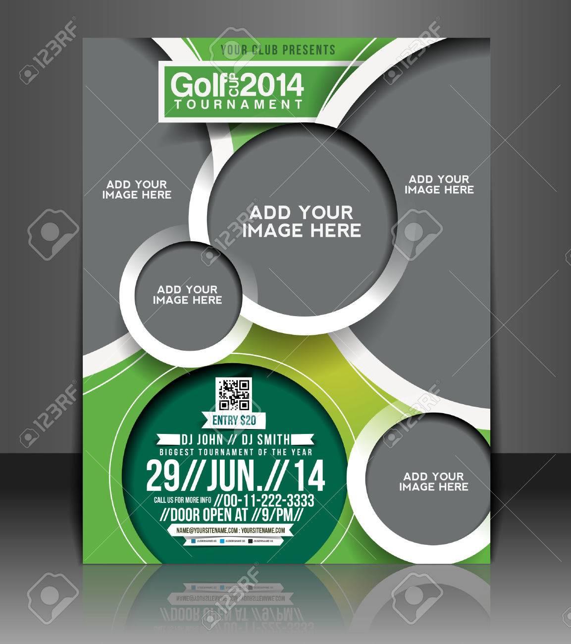 Golf Tournament Flyer & Poster Template Design Stock Vector - 26704168