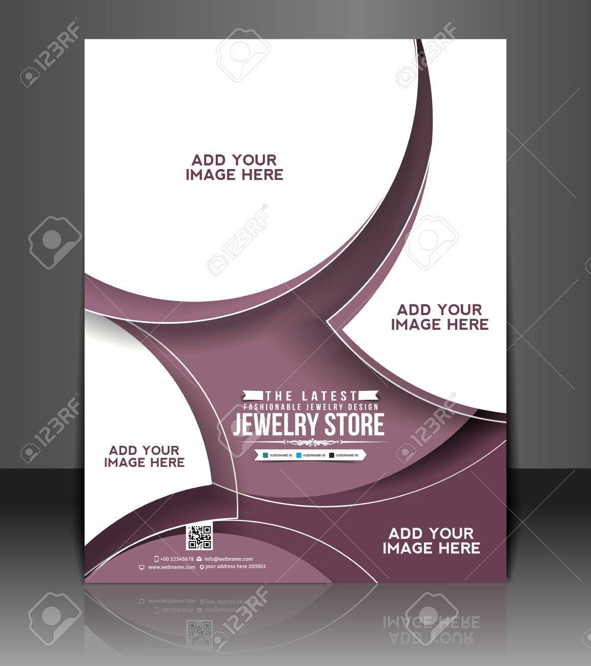 Jewelry Store Flyer & Poster Template Design Royalty Free Cliparts ...