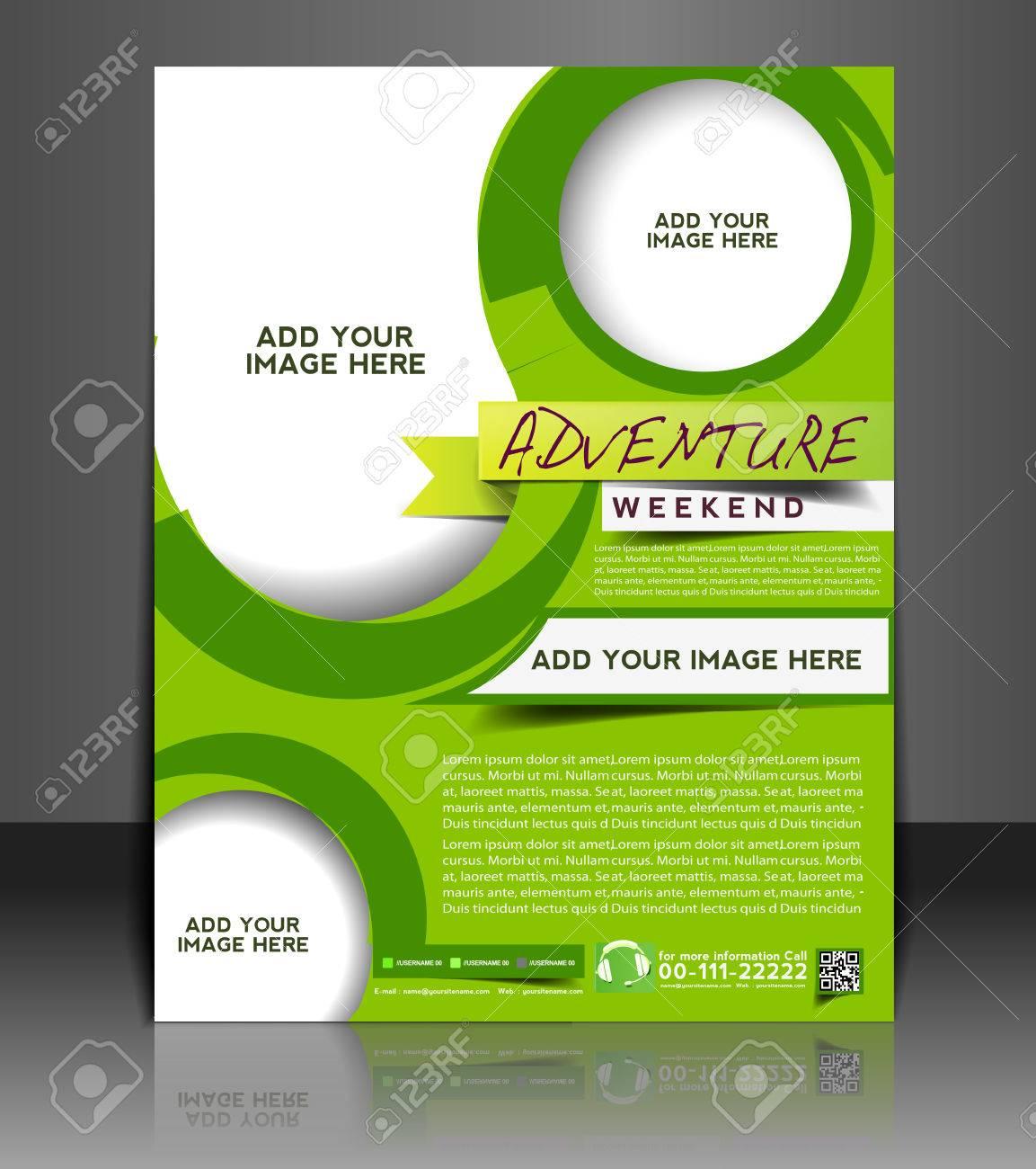 Adventurer Flyer & Poster Template Design Stock Vector - 26704177