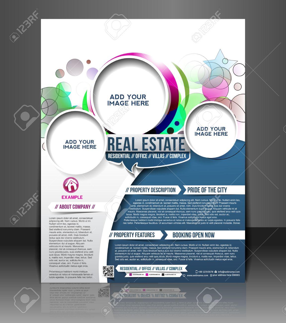 real estate flyer poster template design royalty cliparts real estate flyer poster template design stock vector 26623008