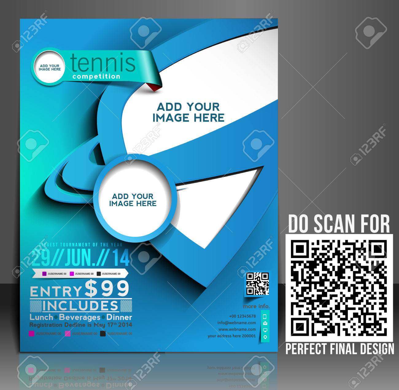 Tennis Competition Flyer Poster Template Design Royalty Free – Competition Flyer Template