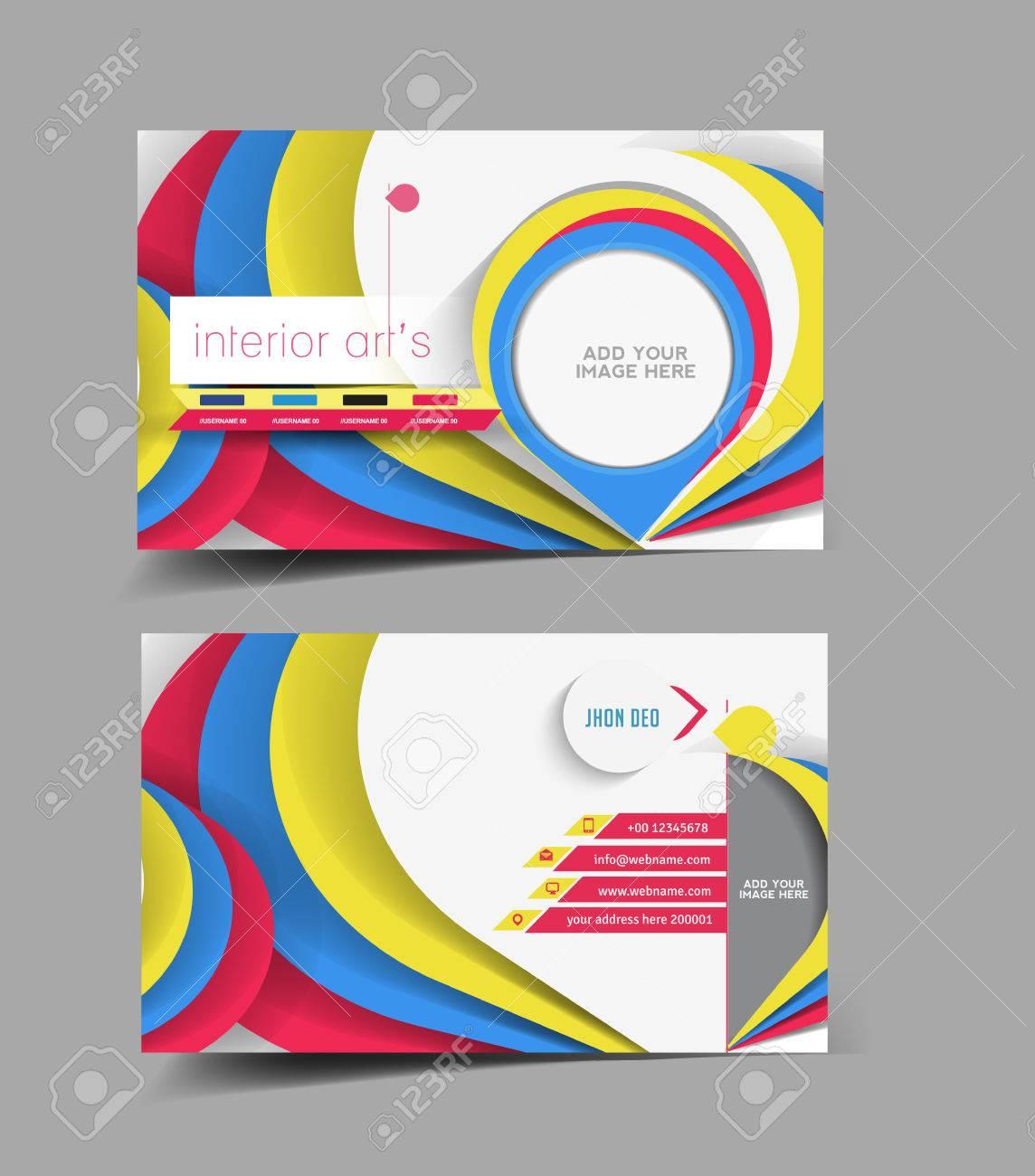 Designer Dintrieur Carte De Visite Vector Design Clip Art Libres
