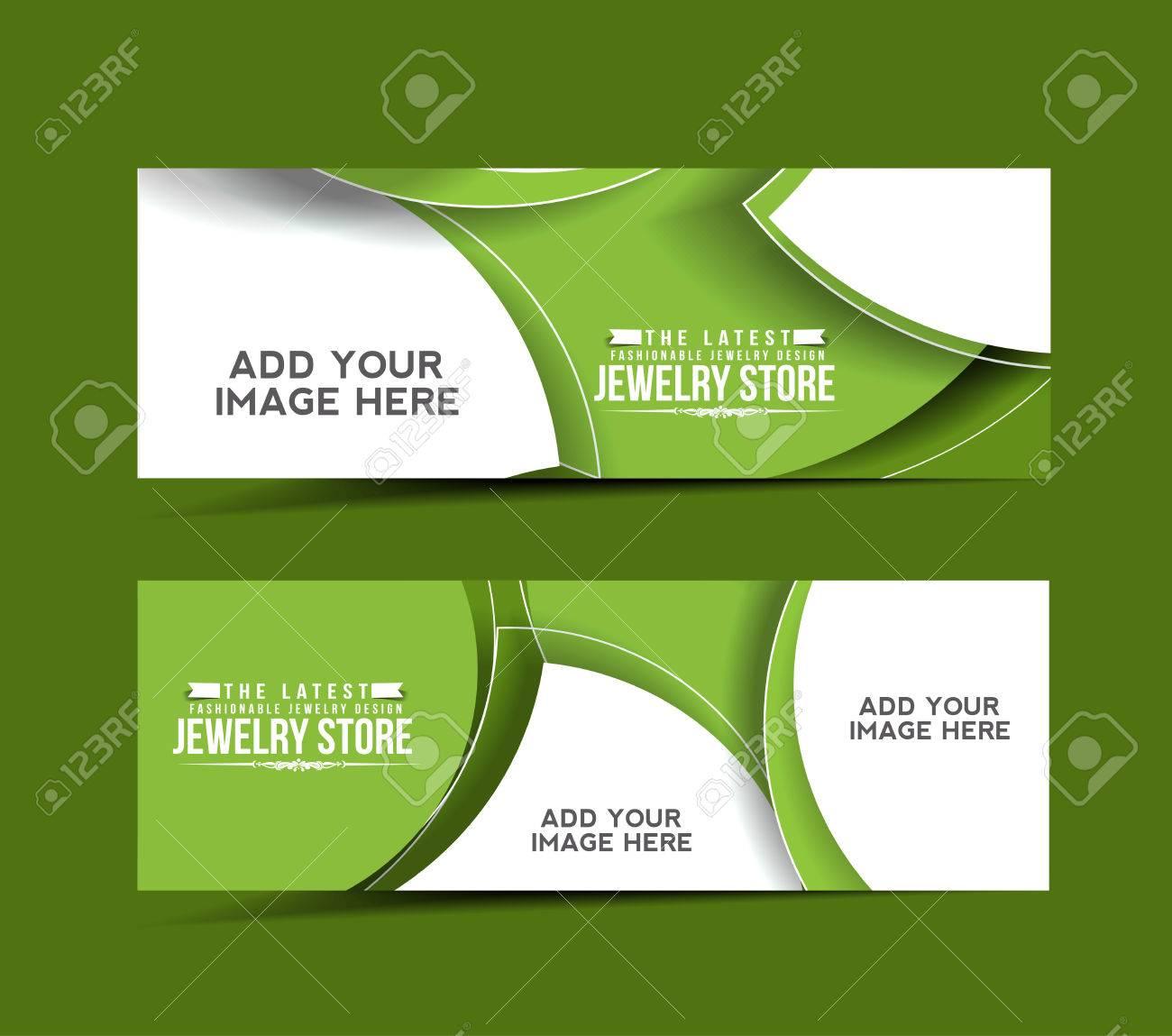 Modern Joyería Diseño Plantilla Banner Ilustraciones Vectoriales ...