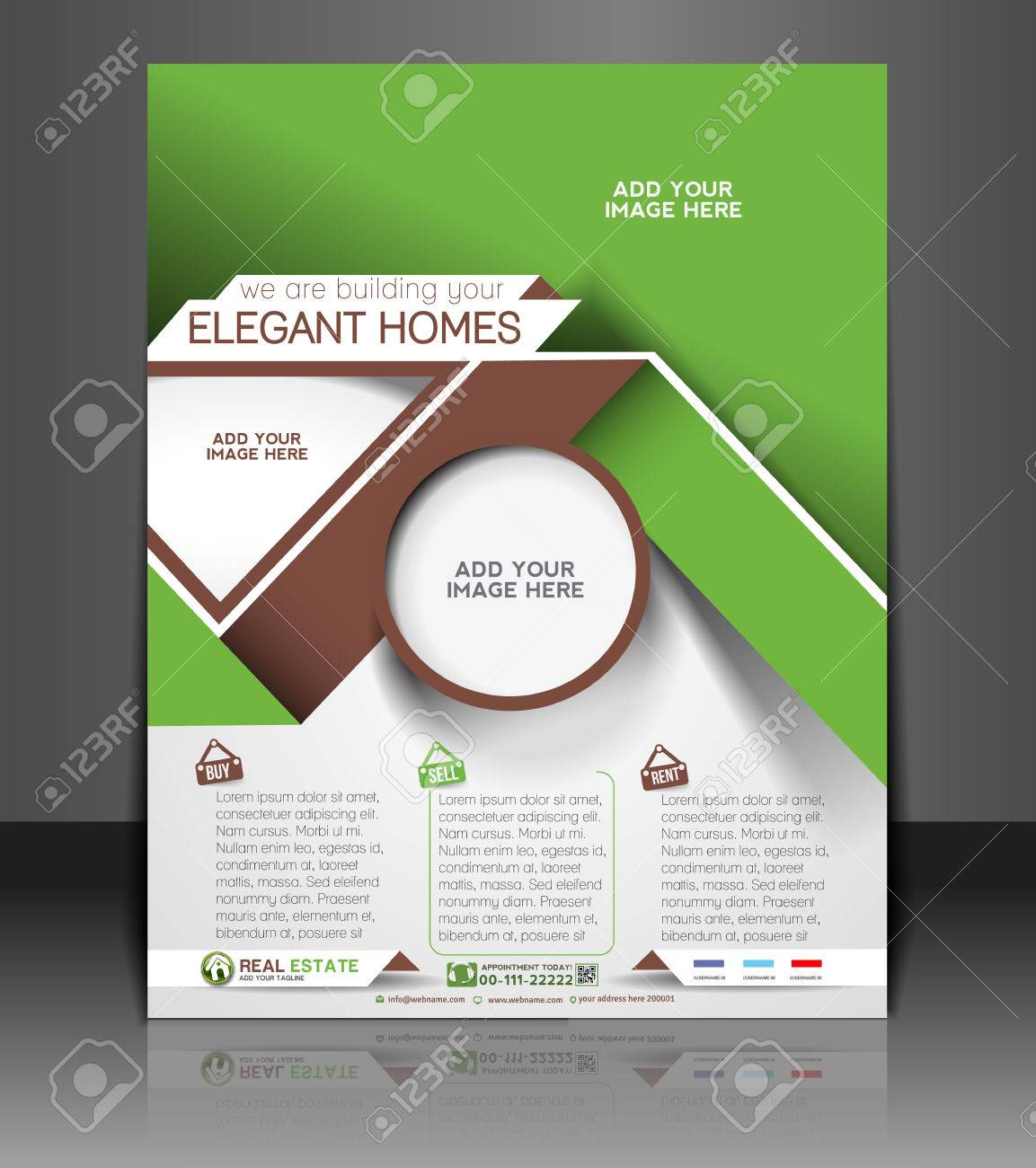 Real Estate Agent Flyer Poster Template Royalty Free Cliparts - Real estate agent flyer template free