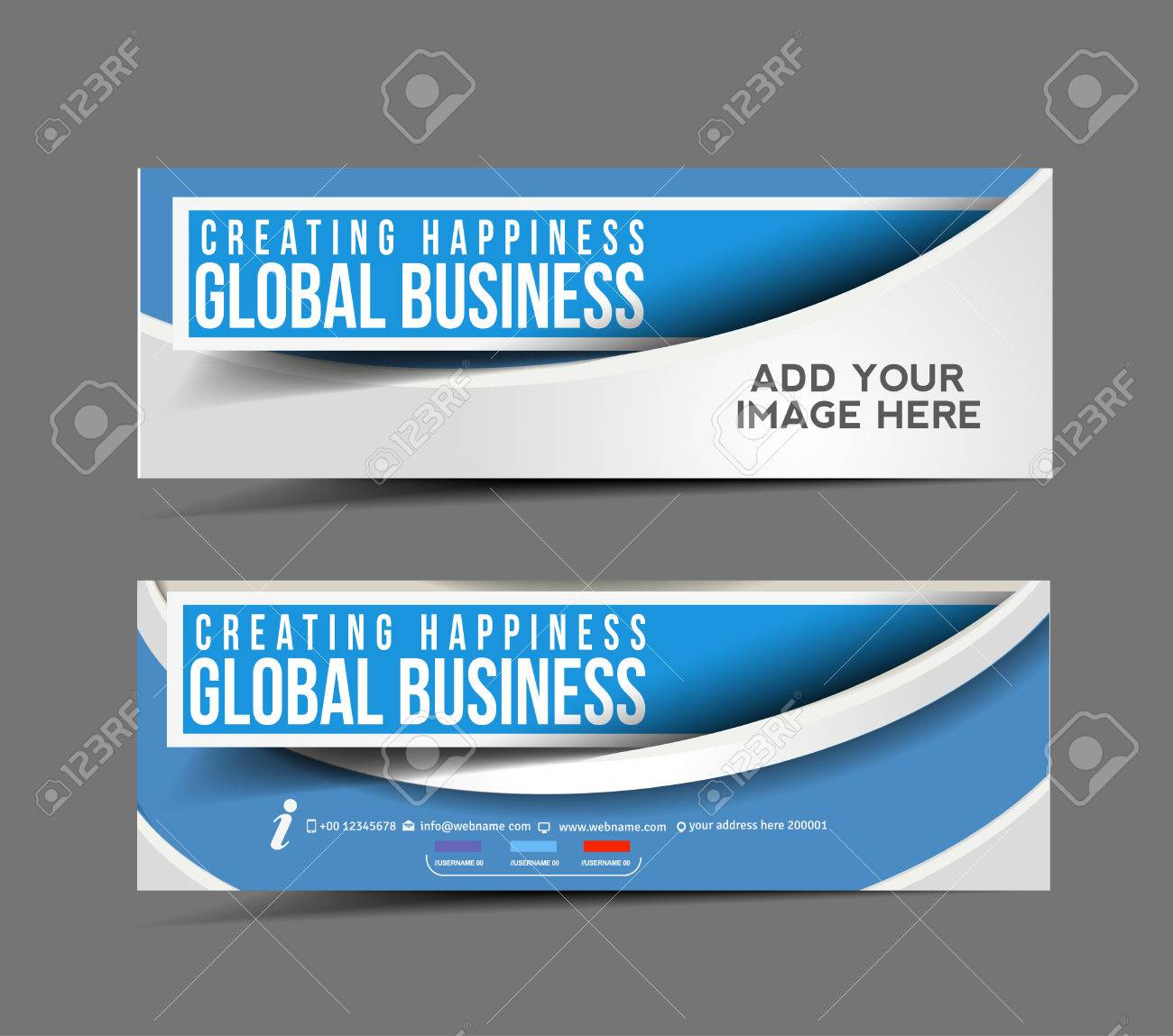 Global Business Web Banner, Header Layout Template. Stock Vector - 26974850