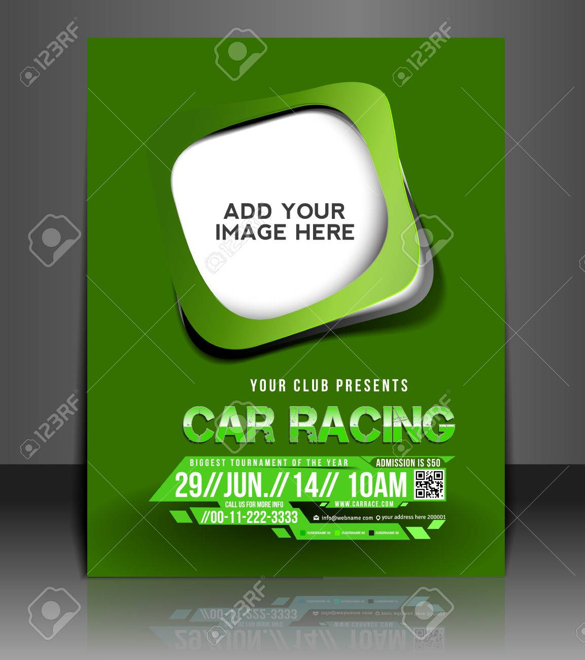 Car Competition Flyer Poster Template Design Royalty Free – Competition Flyer Template