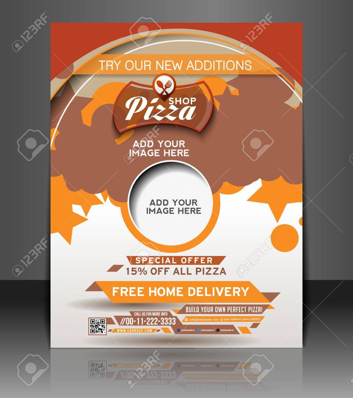 Pizza Shop Diseño Cartel De Plantilla Flyer Ilustraciones ...
