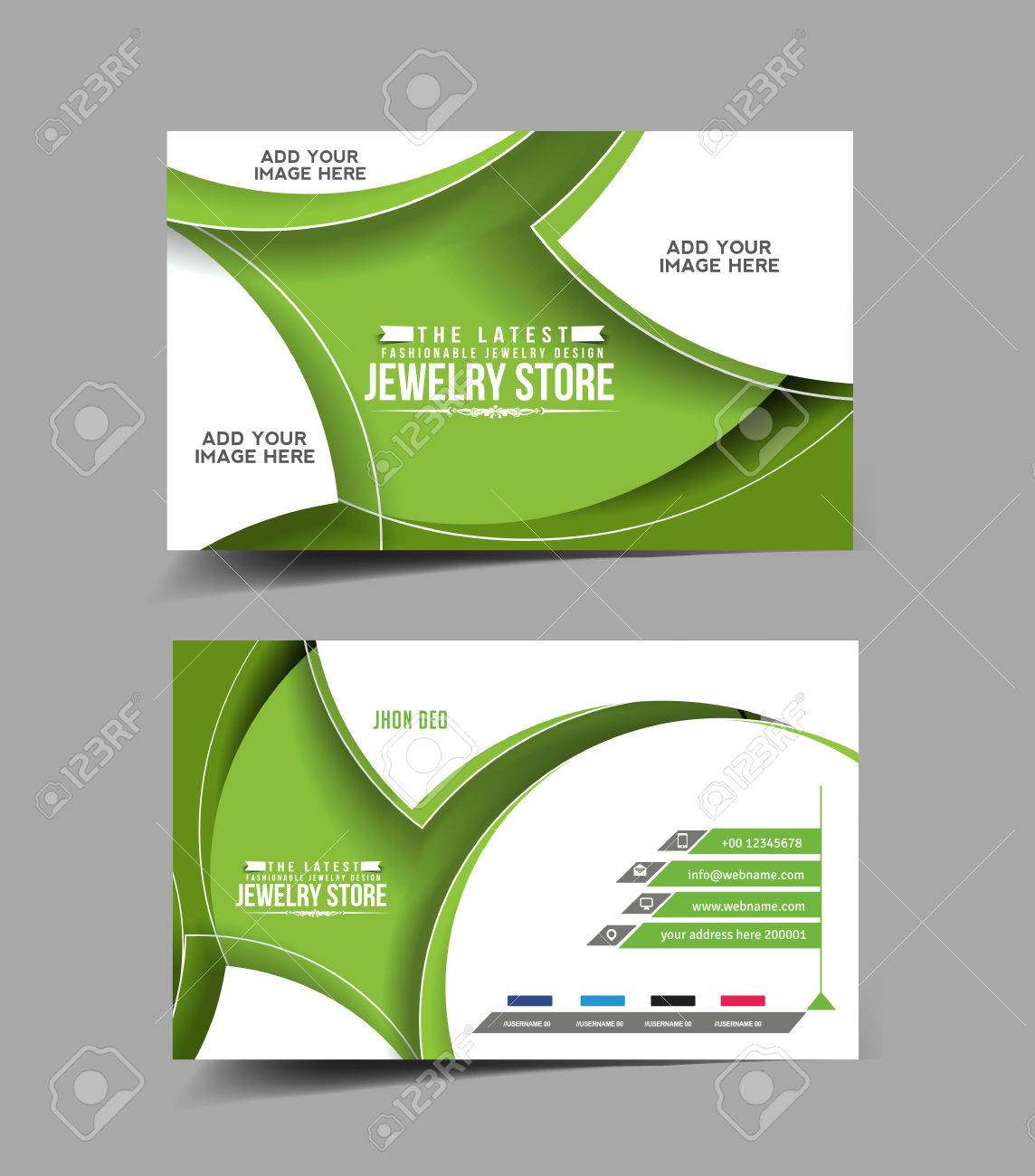 Jewelry Store Business Card Vector Design Royalty Free Cliparts ...