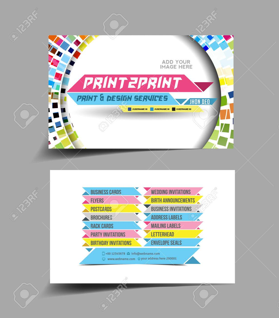 Business card set isolated with soft shadow design royalty free business card set isolated with soft shadow design stock vector 27142245 reheart Choice Image