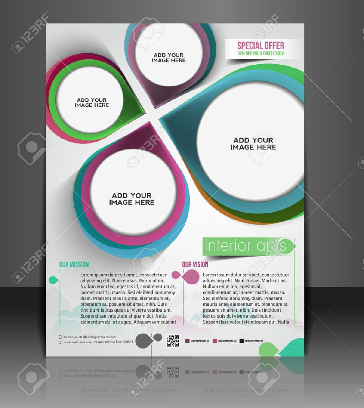 Architecture & Interior Decorator Flyer Template Royalty Free ...