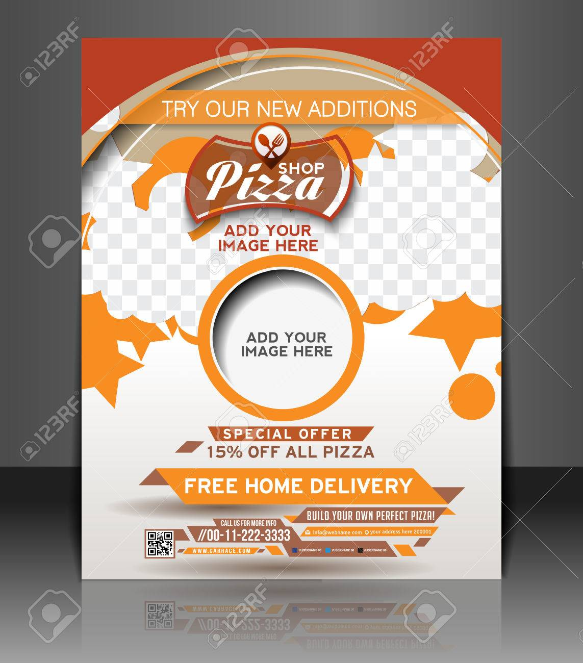 Poster design free template - Pizza Shop Flyer Poster Template Design Stock Vector 27143725