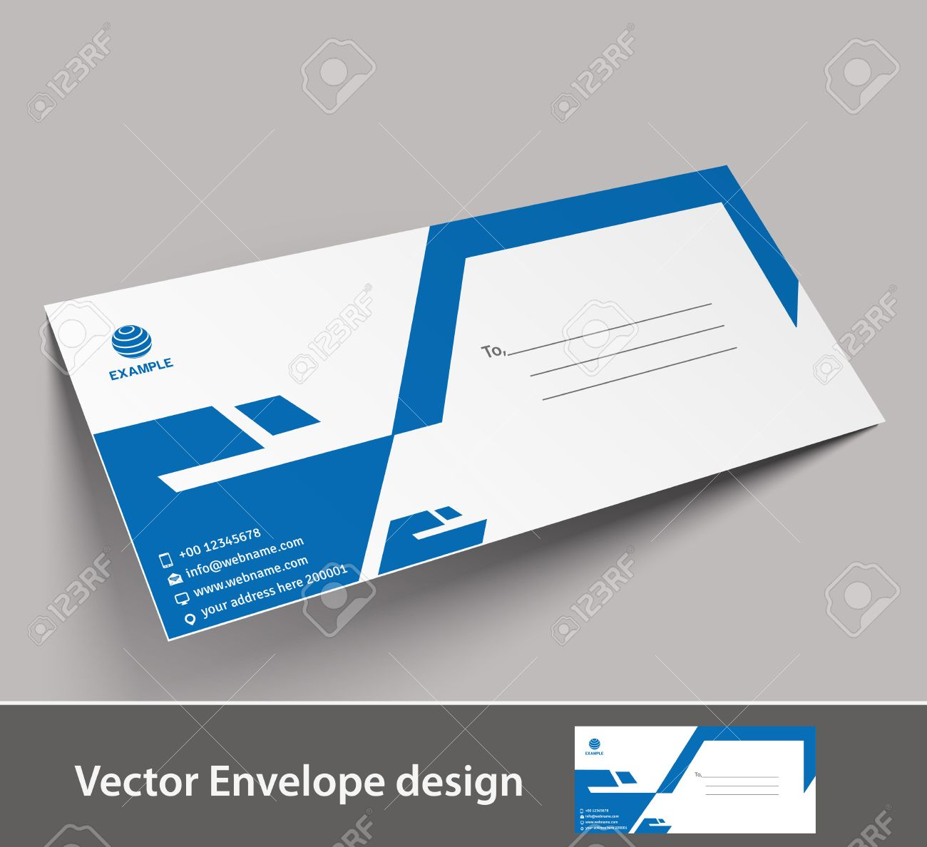 paper envelope templates for your project design vector