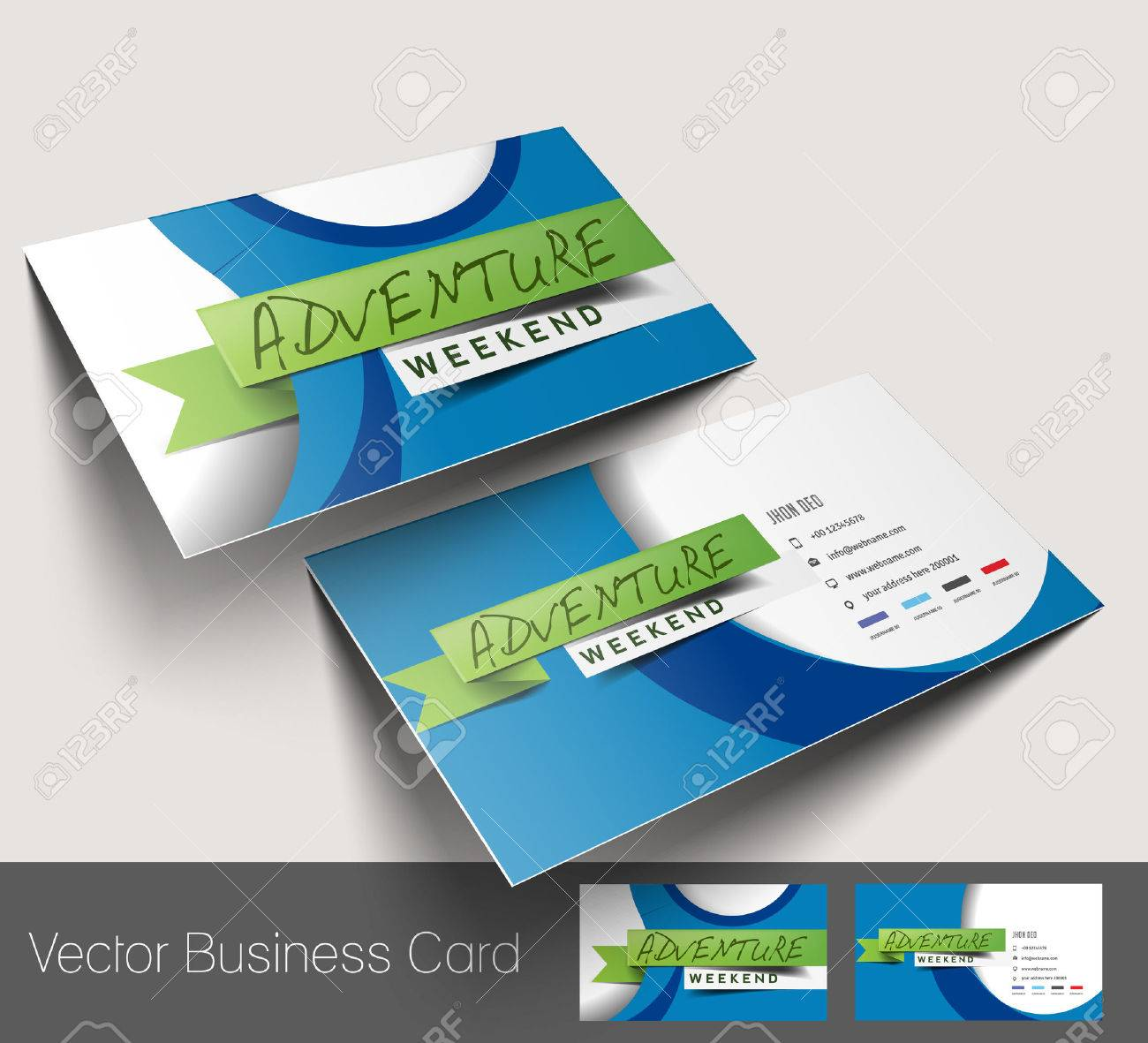 Travel Agent Business Card Set Royalty Free Cliparts, Vectors, And ...