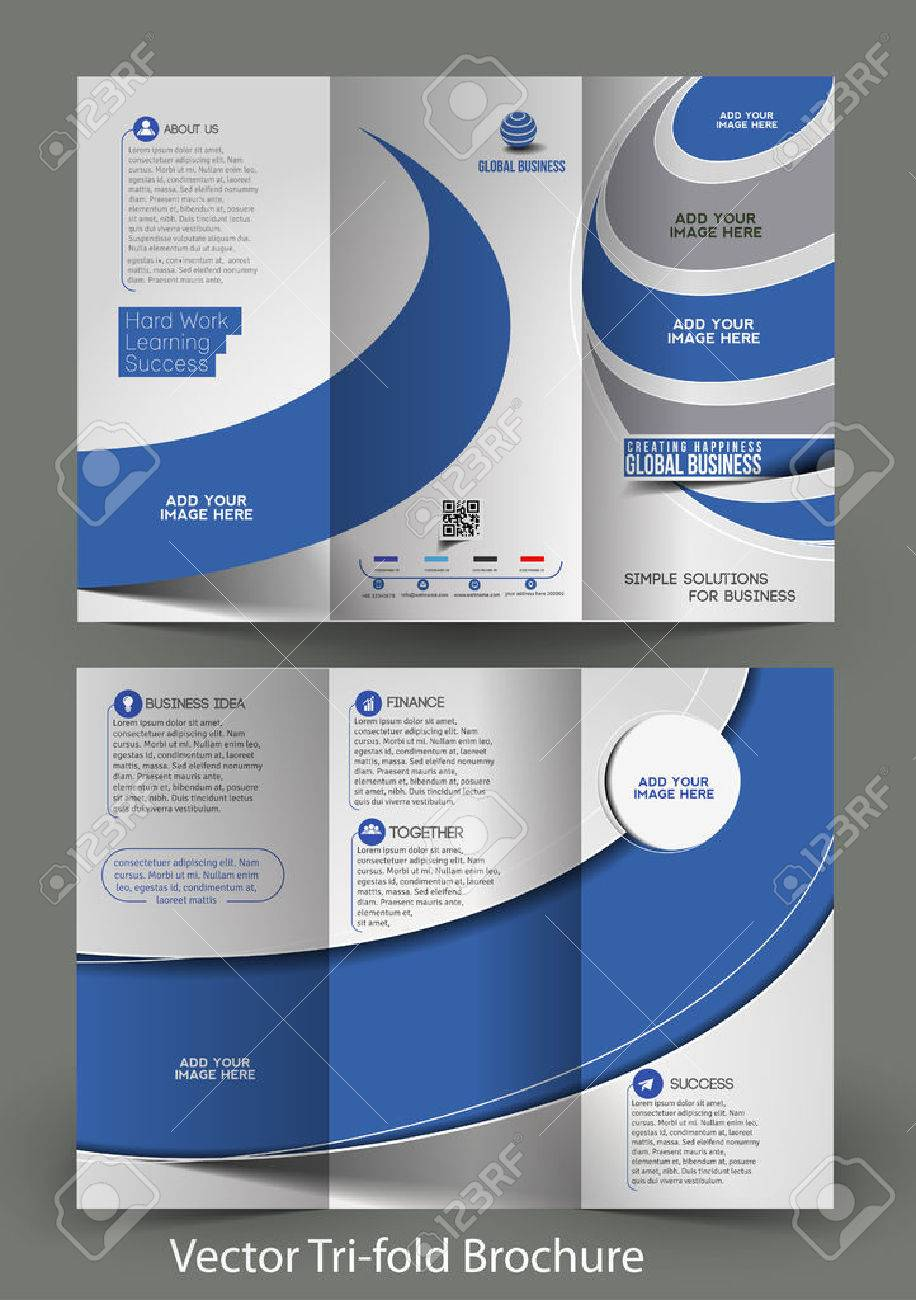 Tri-Fold Corporate Business Store Mock up & Brochure Design Stock Vector - 27359482
