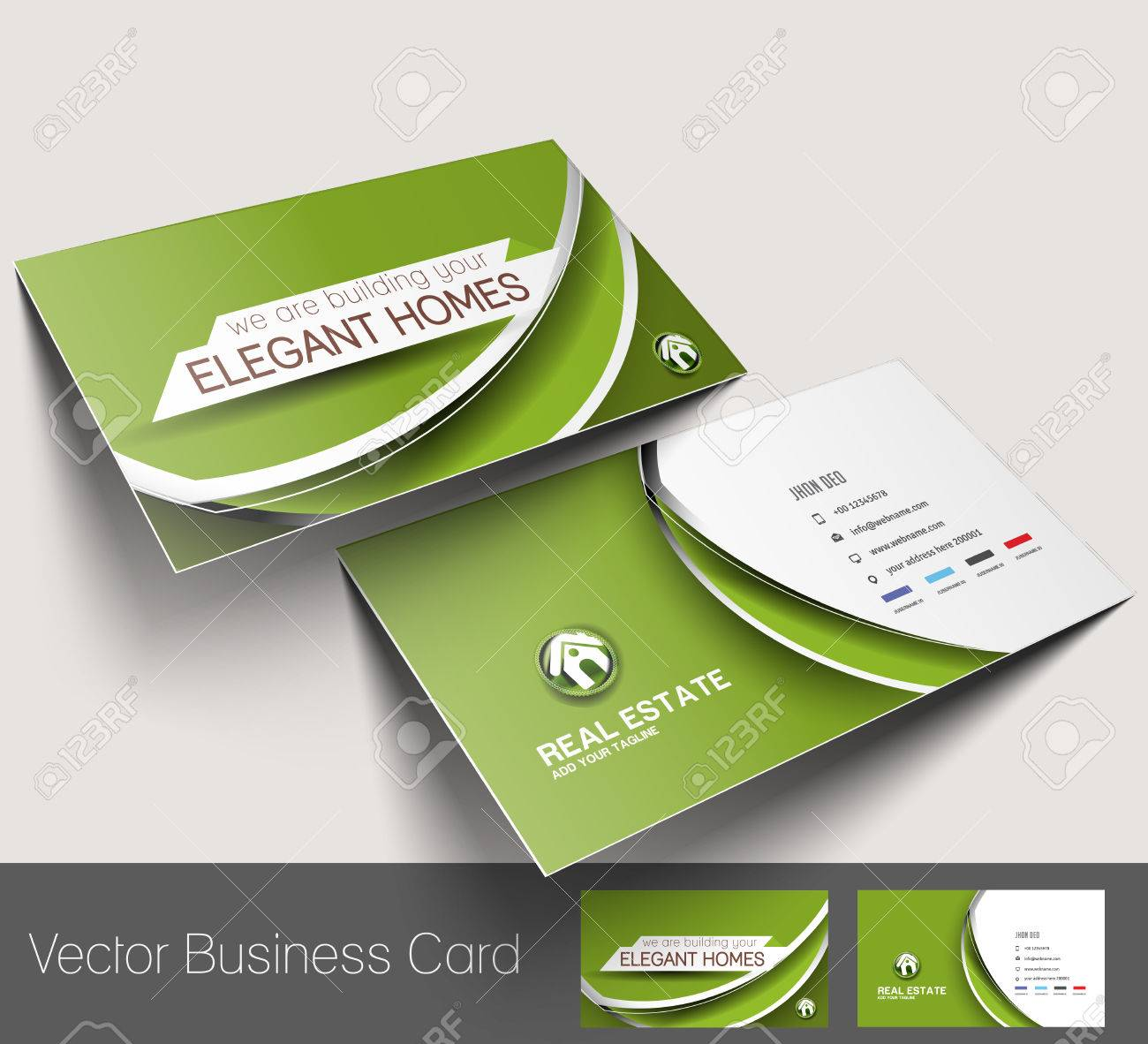 Real estate agent business card set template royalty free cliparts real estate agent business card set template stock vector 27359480 reheart Images
