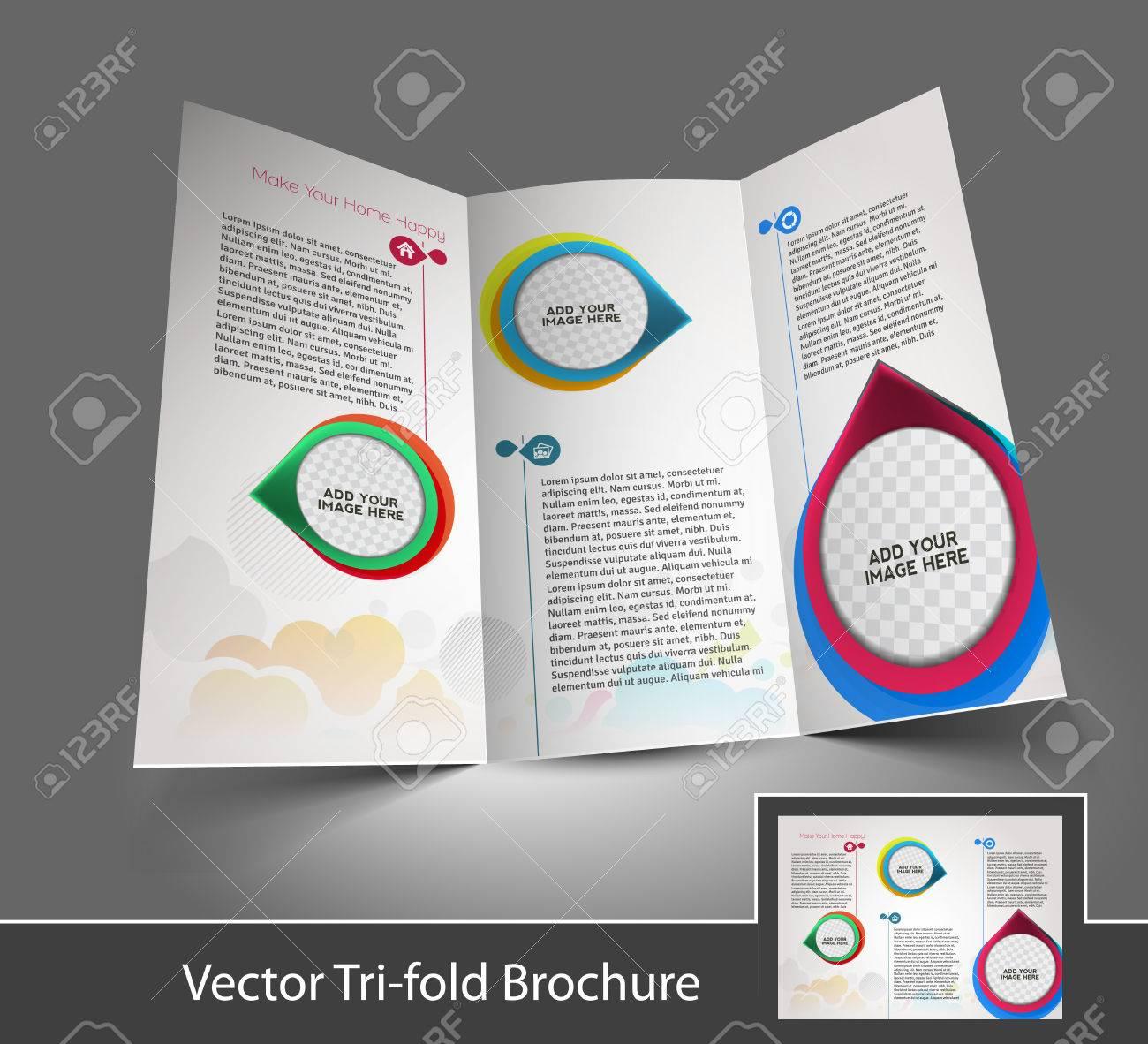 Tri Fold Interior Designers Mock Up Brochure Design