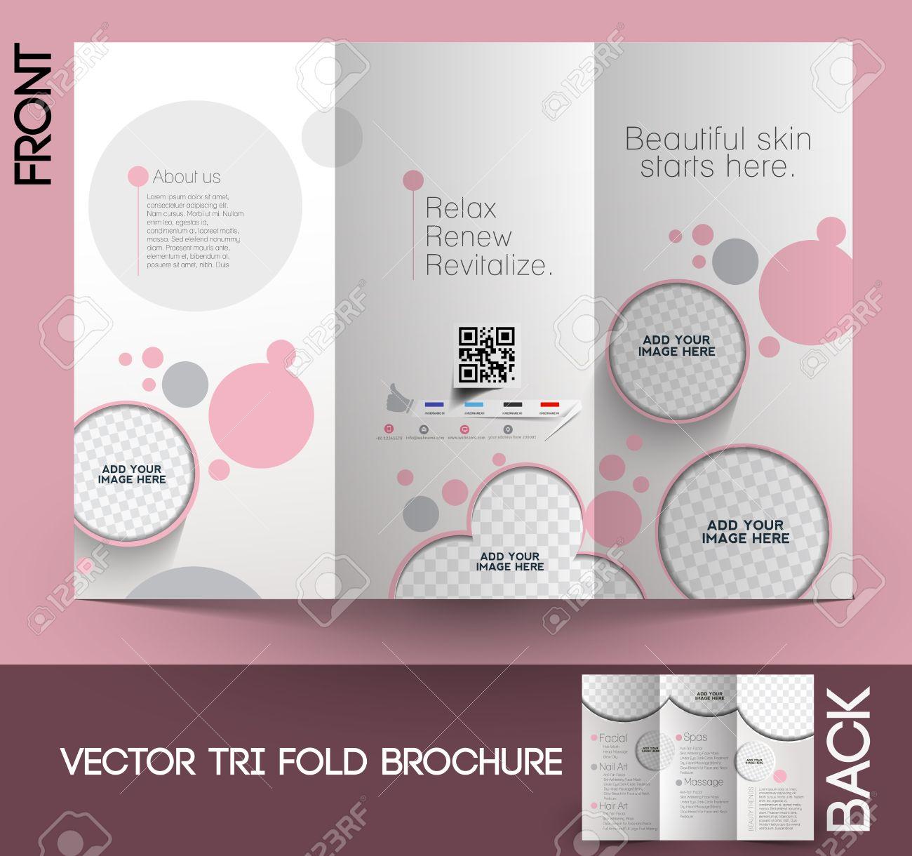 Schönheitspflege & Salon Tri-Fold Mock Up & Broschüre Design ...