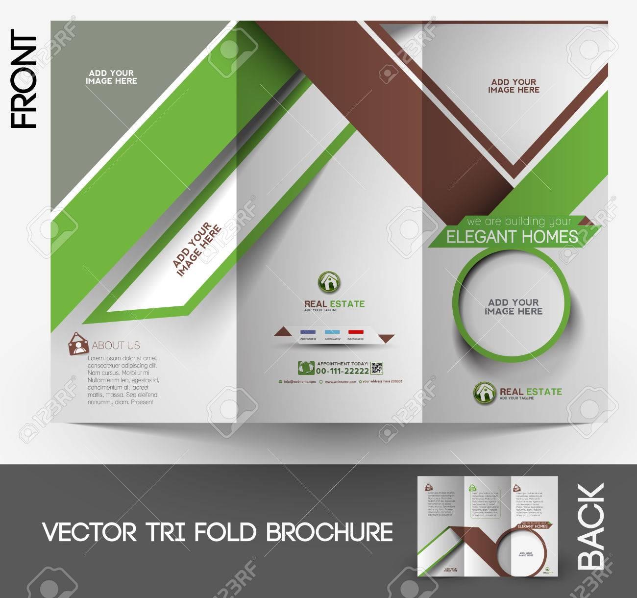 real estate flyer stock vector illustration and royalty real estate flyer real estate agent tri fold mock up brochure design