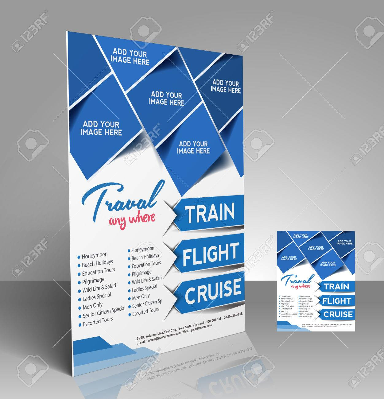 Poster design free template - Travel Center Flyer Poster Template Design Stock Vector 28113915