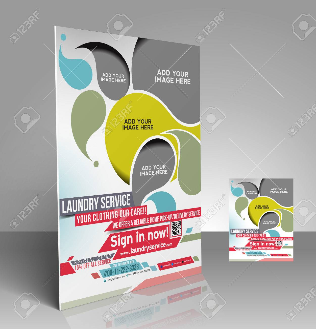 laundry service flyer poster template design royalty laundry service flyer poster template design stock vector 28113926