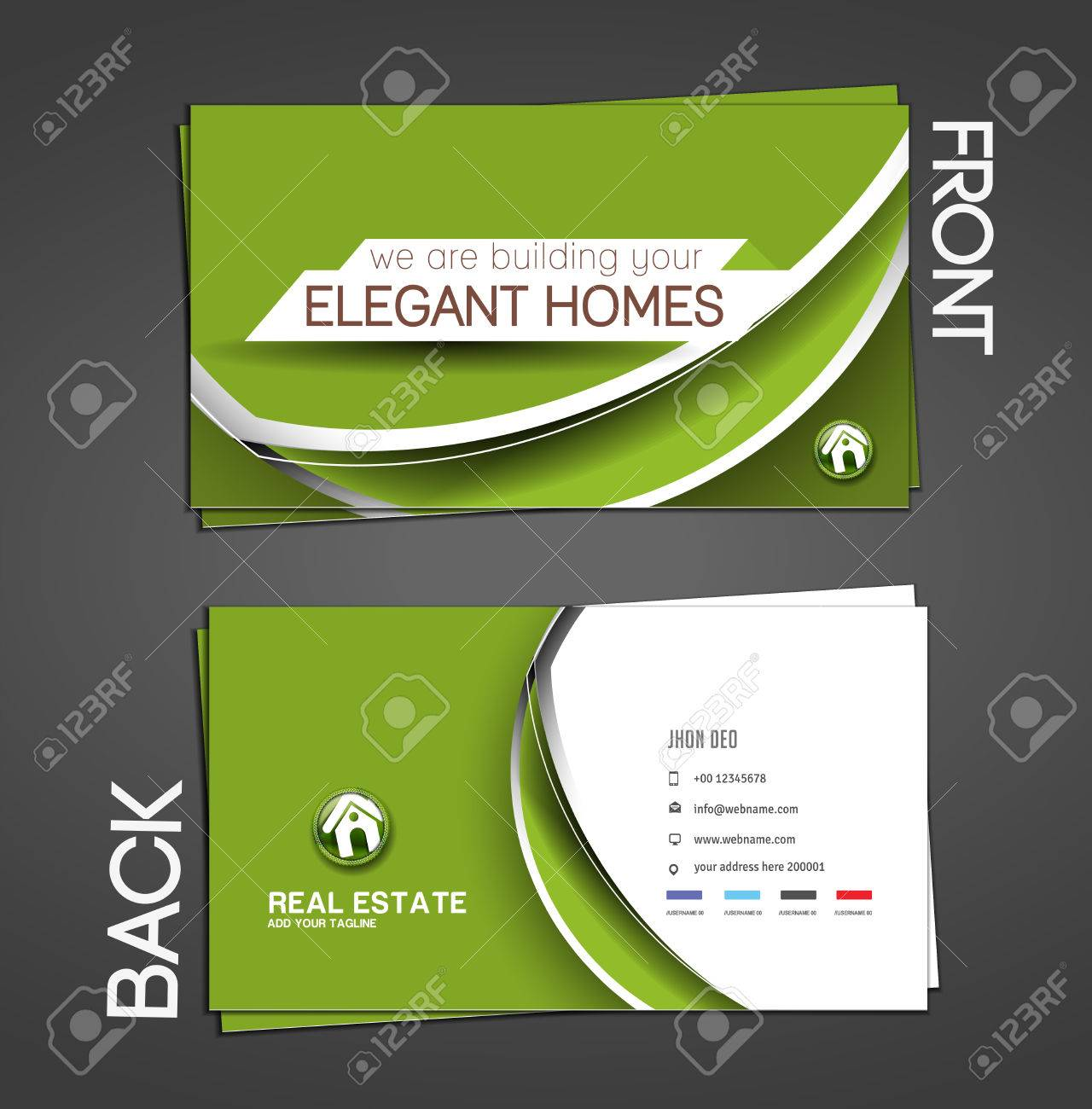 Real estate agent business card set template royalty free cliparts real estate agent business card set template stock vector 28394331 flashek Images