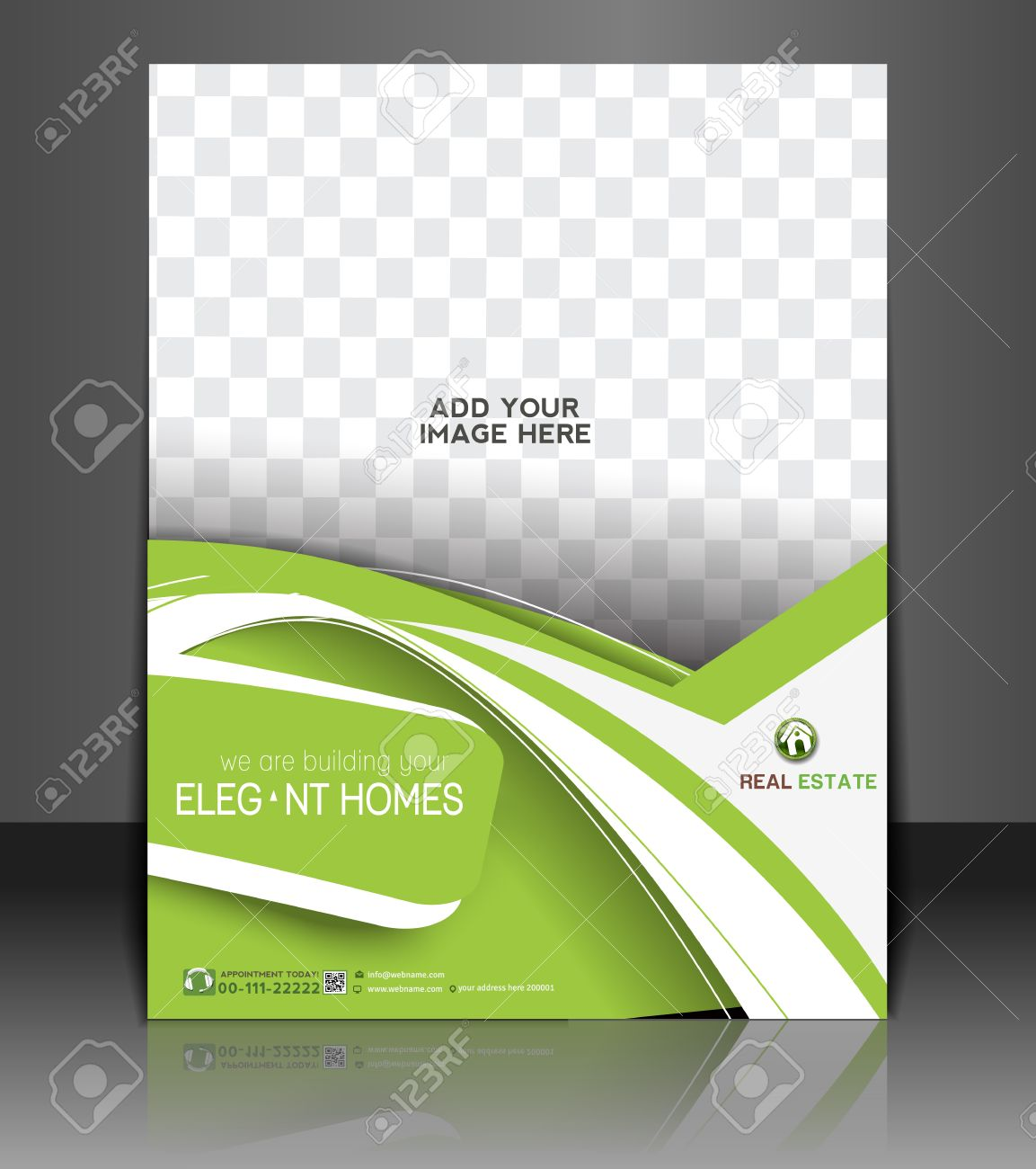 Real Estate Agent Flyer & Poster Template Design Stock Vector - 28516680