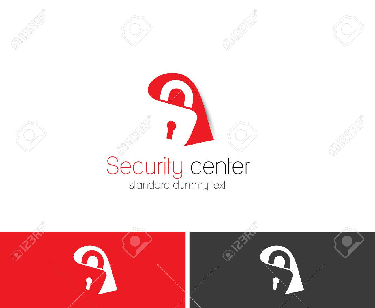 Symbol Of Home Security, Isolated Vector Logo Design Royalty Free ...