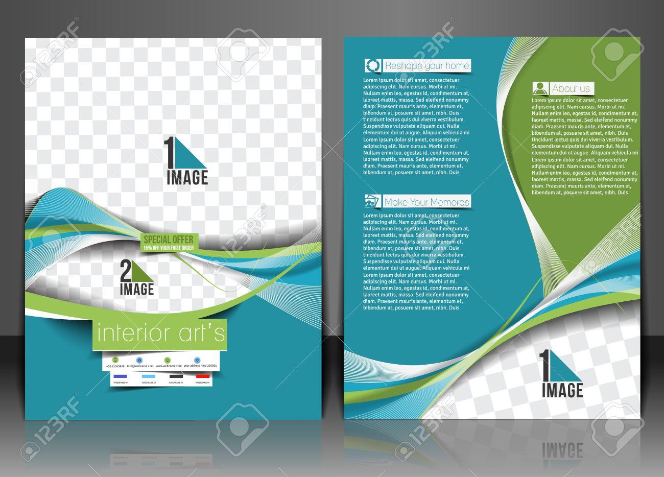 Architecture interior decorator flyer template stock vector 31914334