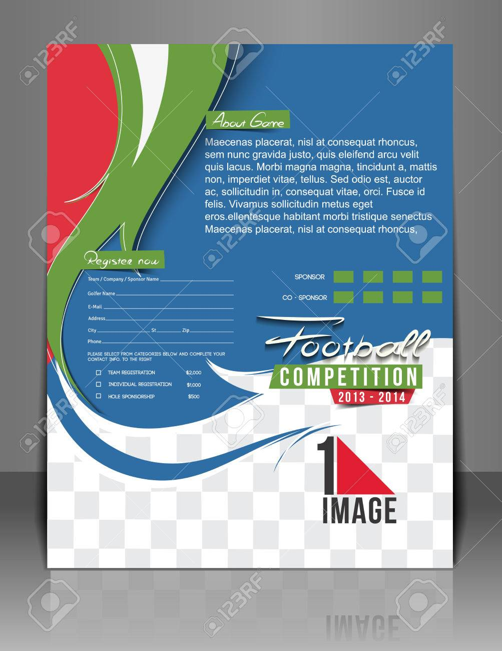 football competition flyer magazine cover poster template royalty