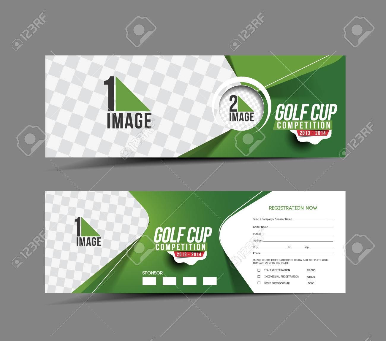 Golf Cup Header & Banner Design Stock Vector - 32080366