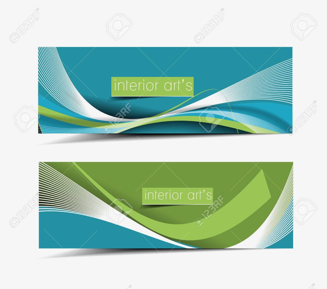 Real Estate Web Banner & Header Layout Template. Royalty Free ...