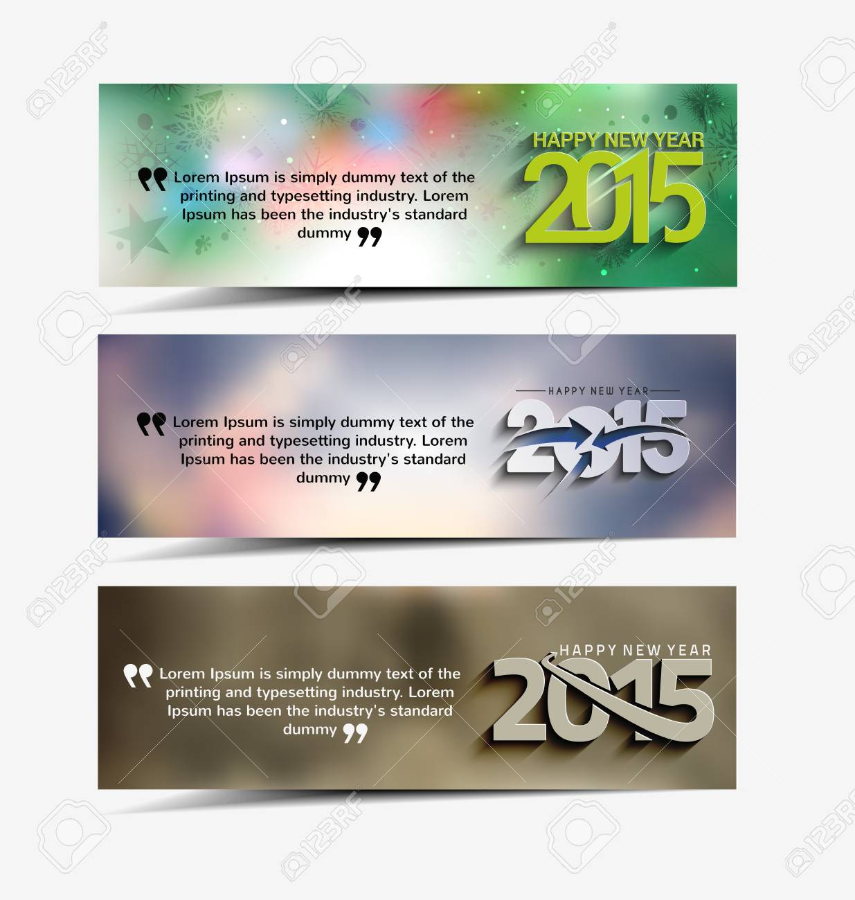 new year website header and banner set with presents stock vector 34452317