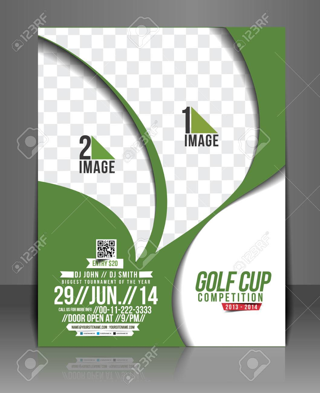 Golf Tournament Flyer U0026 Poster Template Stock Vector   38328511