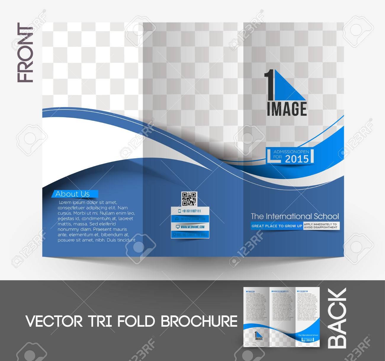 the international school tri fold mock up brochure design royalty
