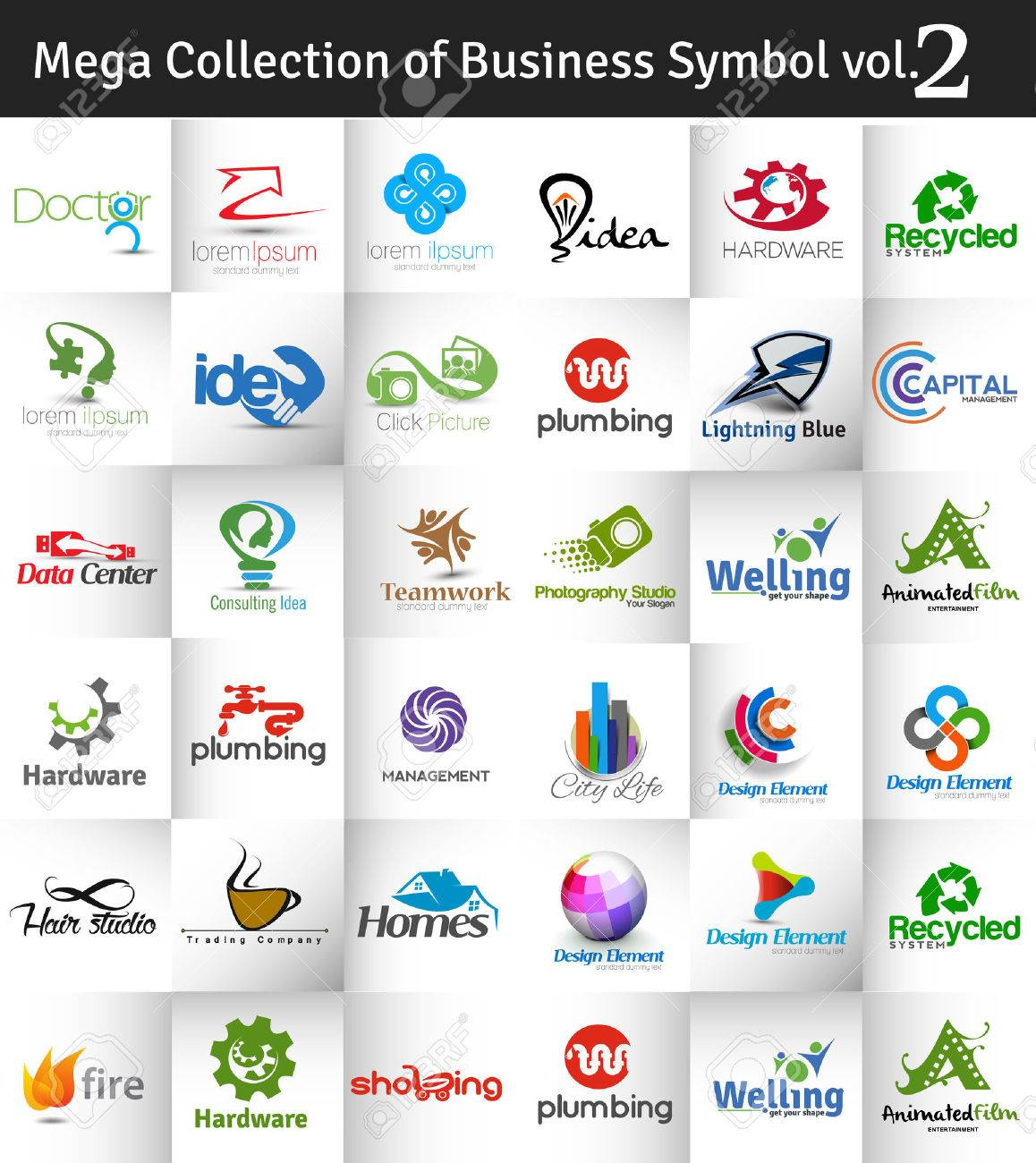 Mega Collection of Vector Logo Design vol.2 Stock Vector - 41833005