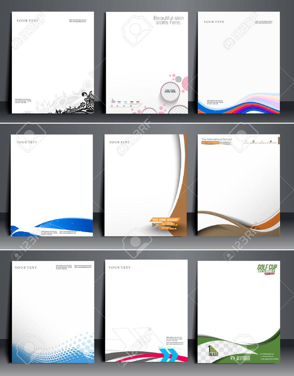 Business Style Corporate Identity Leterhead Template. Stock Vector - 41833146