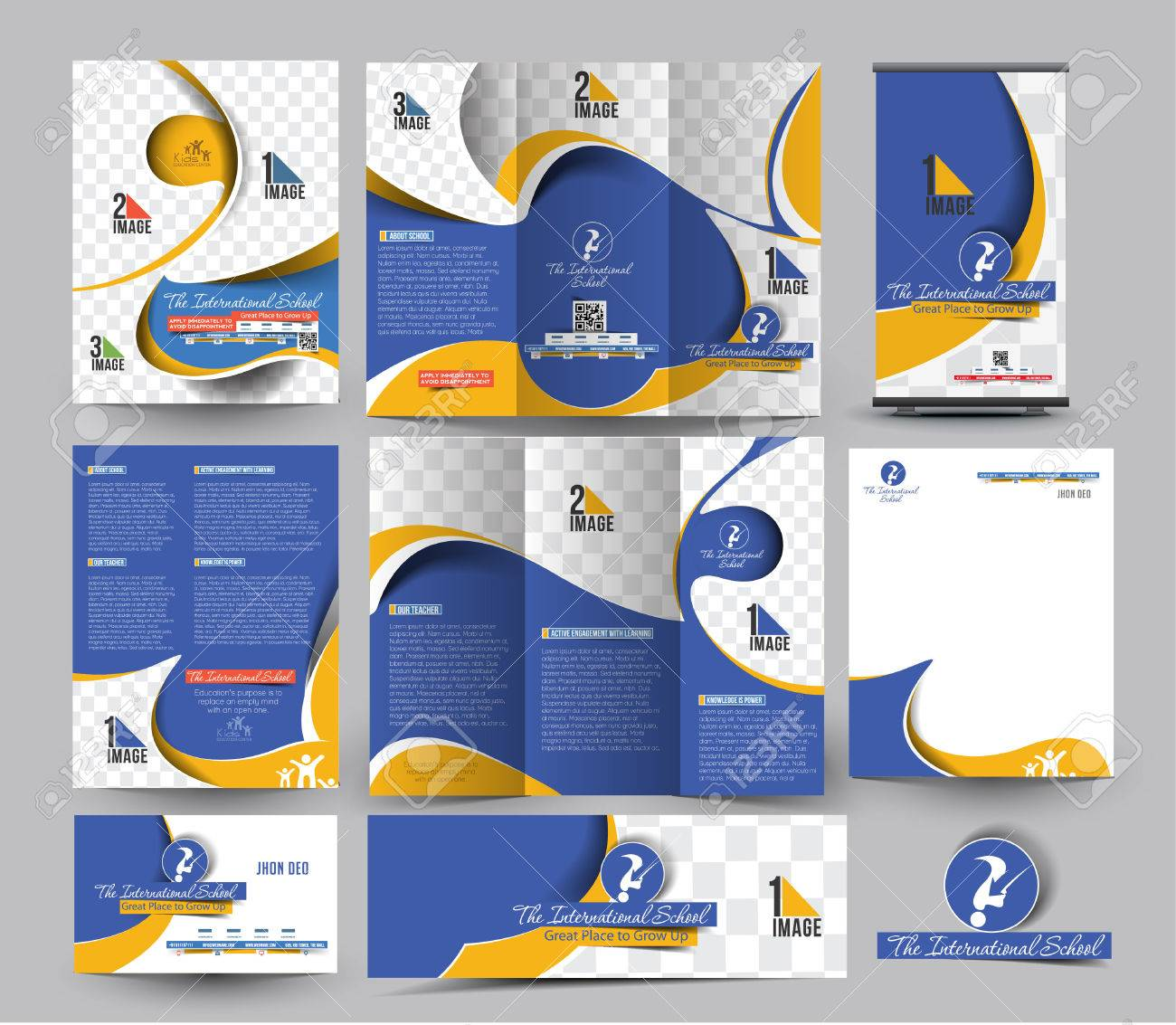 School Business Stationery Set Template - 41833226
