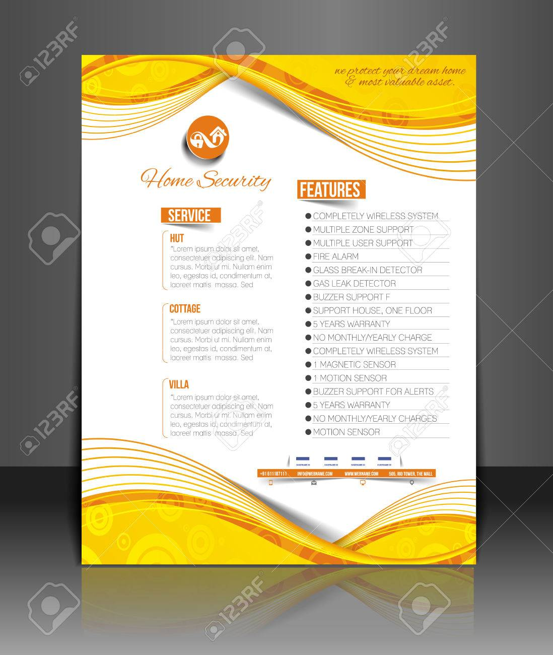 Home Security Agent Flyer & Poster Template Royalty Free Cliparts ...